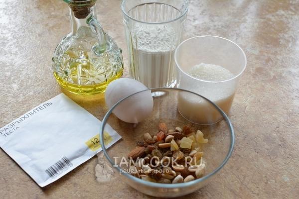 Ингредиенты для кексов без молока и кефира