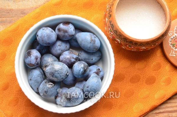 Ингредиенты для варенья-пятиминутки из сливы без косточек