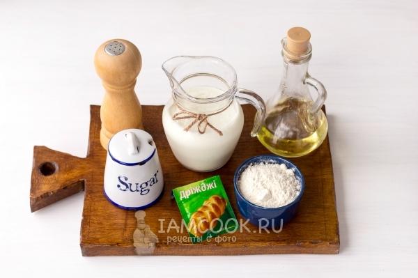 Ингредиенты для пирожков «Как пух» на кефире