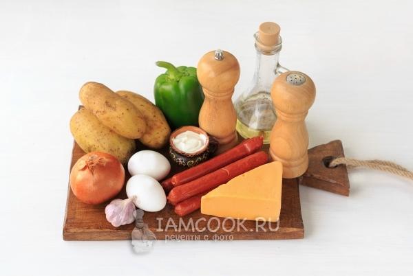 Ингредиенты для испанского омлета