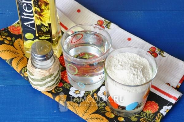 Ингредиенты для заварного теста для вареников с творогом