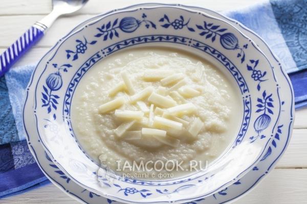 Фото супа-пюре из цветной капусты с сыром