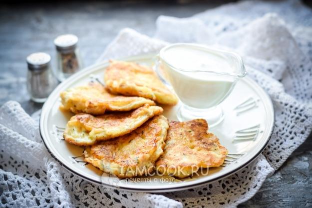 Рецепт оладий из куриной грудки с майонезом