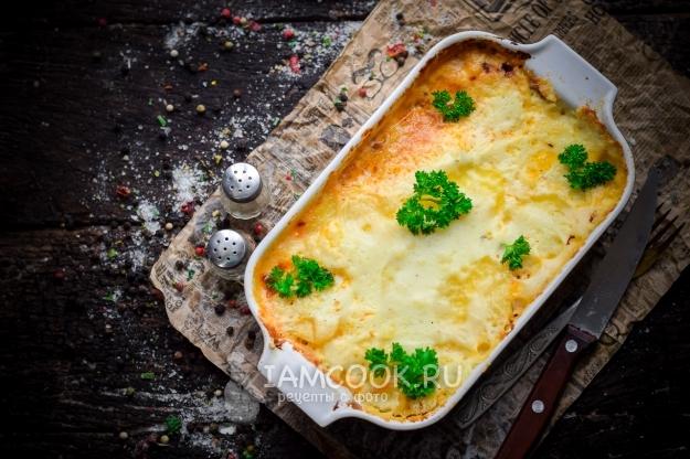 Рецепт картофельной лазаньи с фаршем