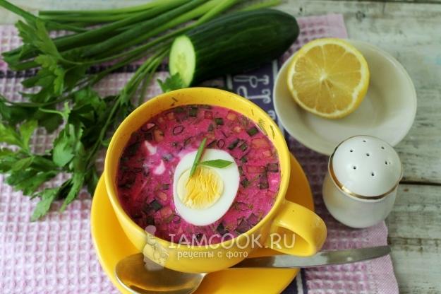 Рецепт холодника со свеклой на кипяченой воде