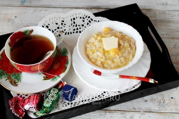 Рецепт геркулесовой каши с тыквой
