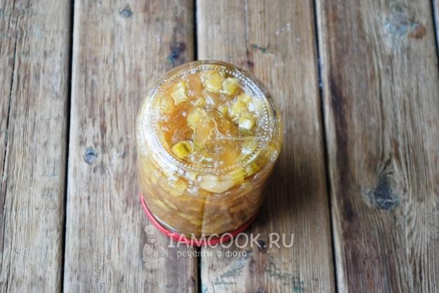 Фото варенья из кабачков с яблоками