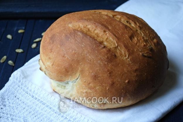 Фото хлеба с тыквенными семечками