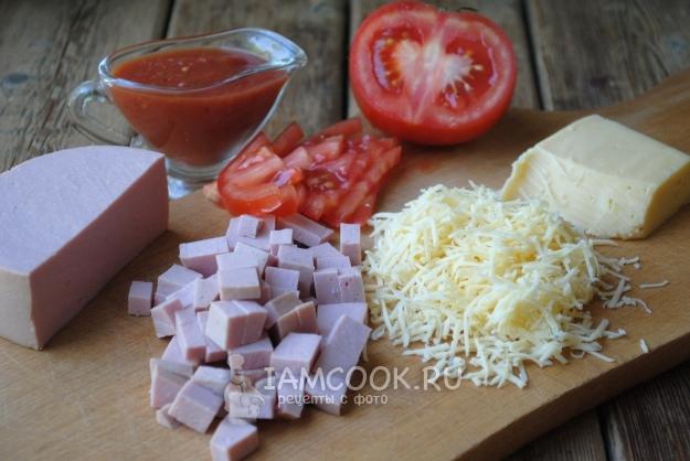 Подготовить начинку для пиццы
