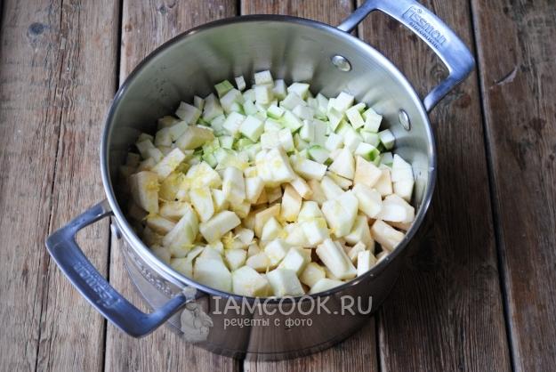 Соединить кабачки с яблоками