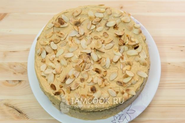 Рецепт макового торта с кремом из вареной сгущенки