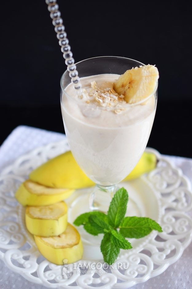 Рецепт смузи с творогом и бананом