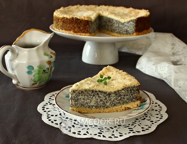 Рецепт немецкого макового пирога с творогом