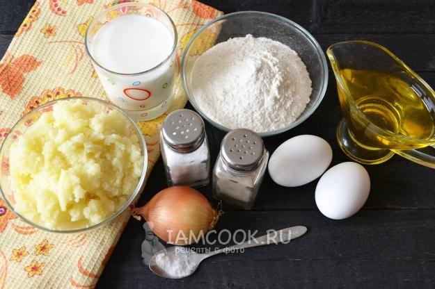Ингредиенты для блинов с картошкой
