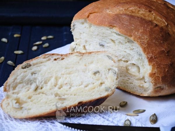 Хлеб с тыквенными семечками — рецепт с фото пошагово