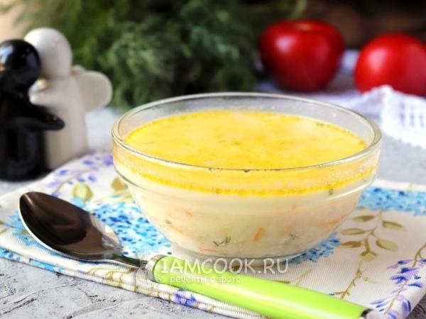Суп с плавленным сыром и вермишелью — рецепт с фото пошагово