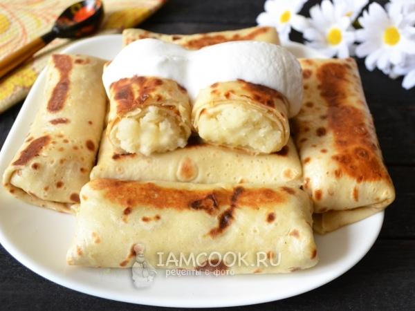 Блины с картошкой — рецепт с фото пошагово