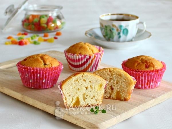 Кексы на кефире и маргарине — рецепт с фото пошагово