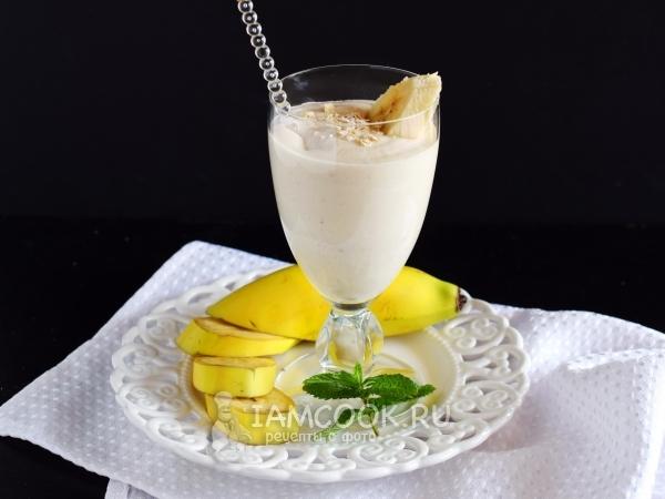 Смузи с творогом и бананом — рецепт с фото пошагово