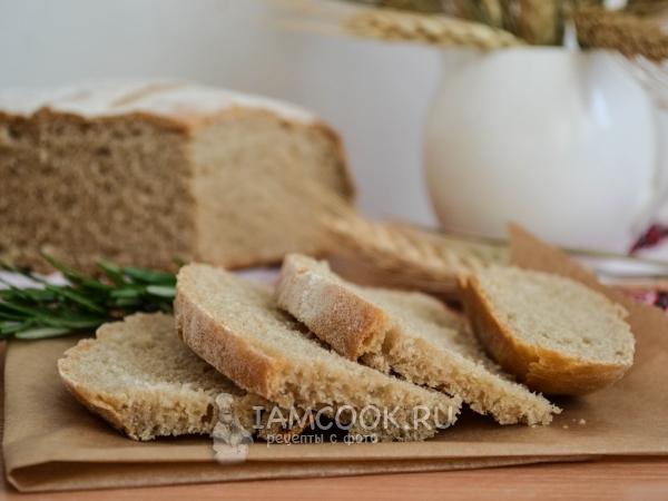 Хлеб из цельнозерновой муки в духовке — рецепт с фото пошагово