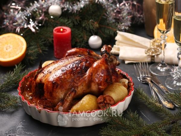 Курица в медово-апельсиновом соусе в духовке — рецепт с фото пошагово