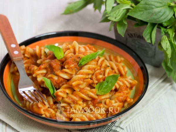 Паста с перцем и помидорами — рецепт с фото пошагово