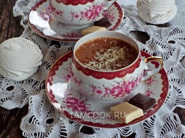 Горячий шоколад с зефиром — рецепт с фото пошагово
