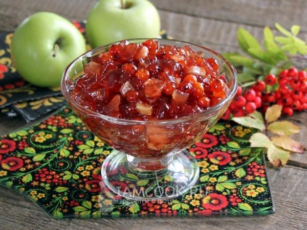 Варенье из красной рябины с яблоками — рецепт с фото пошагово
