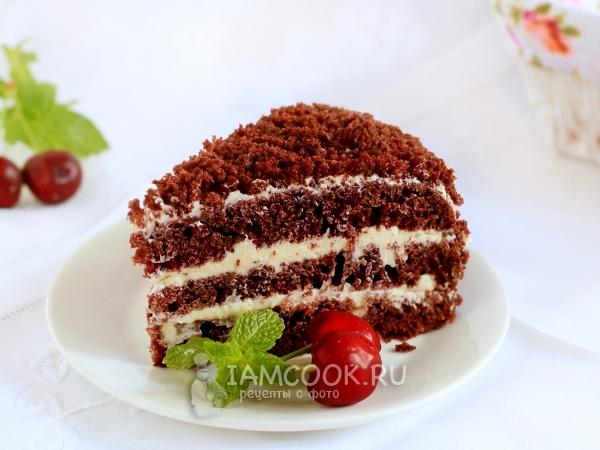 Шоколадный торт на кефире — рецепт с фото пошагово
