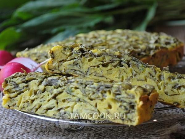 Заливной пирог с щавелем — рецепт с фото пошагово
