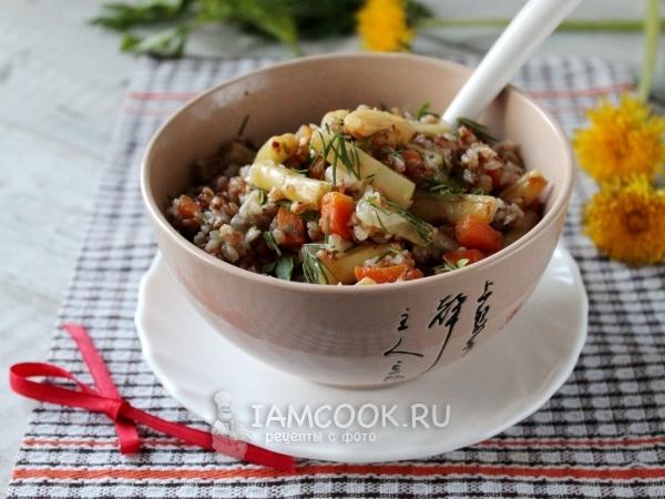 Гречка со стручковой фасолью — рецепт с фото пошагово