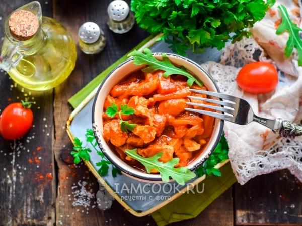 Томатная подлива из курицы — рецепт с фото пошагово