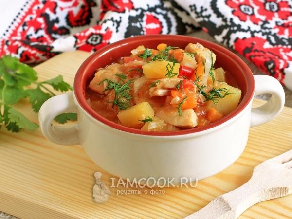 Рагу с куриным филе и баклажанами — рецепт с фото пошагово
