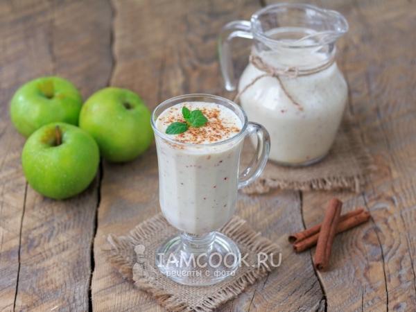 Смузи из кефира и яблока — рецепт с фото пошагово