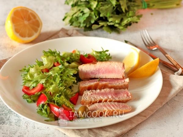 Стейки тунца в соевом соусе — рецепт с фото пошагово