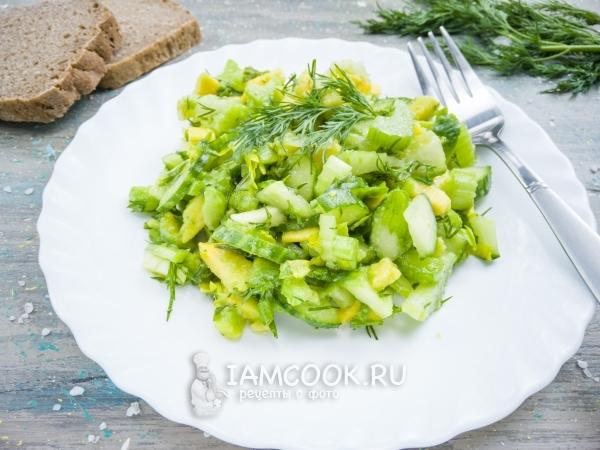 Салат с сельдереем и авокадо — рецепт с фото пошагово