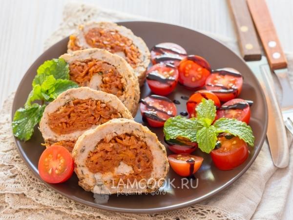 Рулет из фарша с морковью — рецепт с фото пошагово