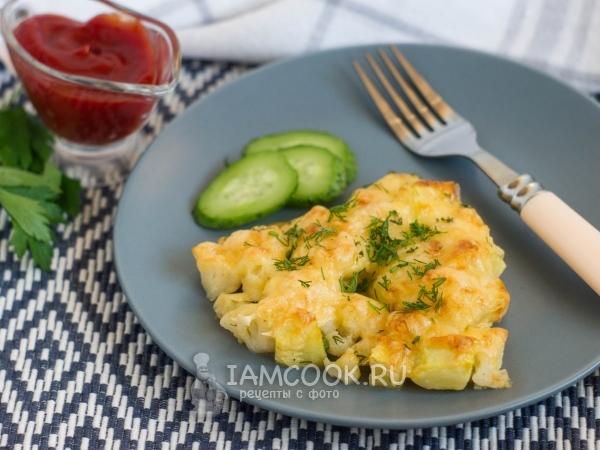 Кабачки с цветной капустой в духовке — рецепт с фото пошагово