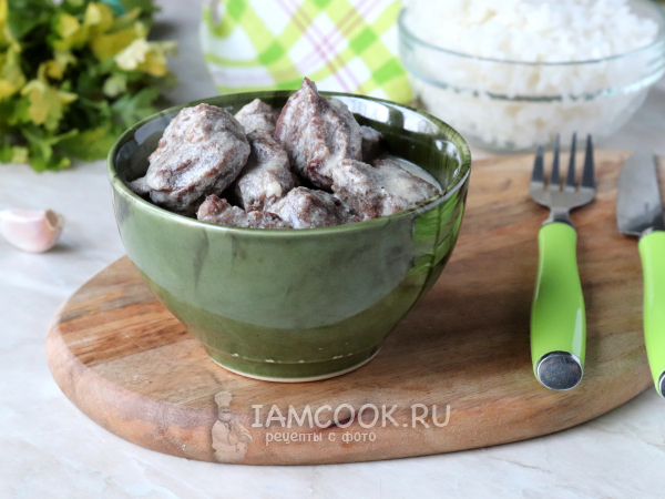 Телятина в сливочном соусе — рецепт с фото пошагово