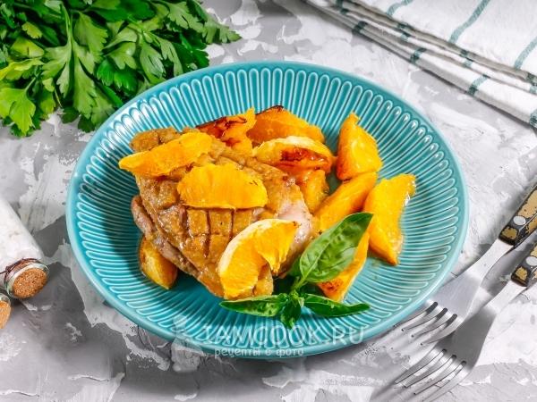 Утиная грудка с апельсинами — рецепт с фото пошагово