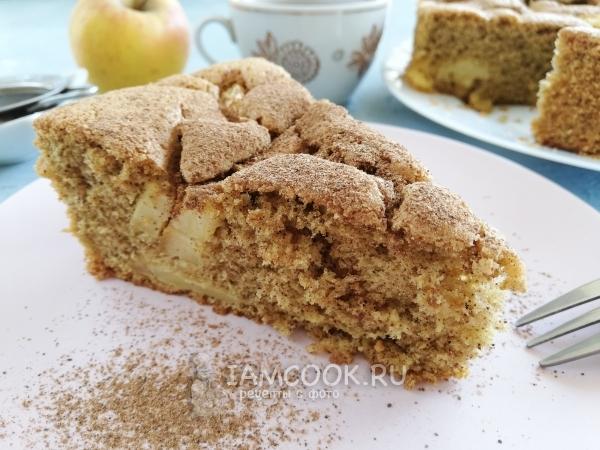 Безглютеновый пирог из рисовой муки с яблоками — рецепт с фото пошагово
