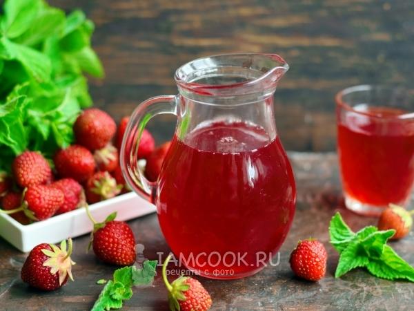 Клубнично-яблочный компот — рецепт с фото пошагово