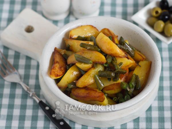Стручковая фасоль с картошкой — рецепт с фото пошагово