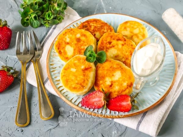 Сырники из обезжиренного творога — рецепт с фото пошагово