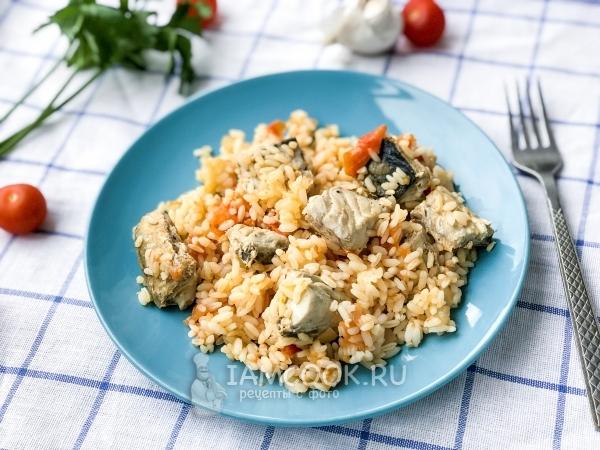Скумбрия с рисом по-Португальски — рецепт с фото пошагово