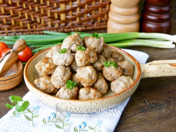 Жареные фрикадельки — рецепт с фото пошагово