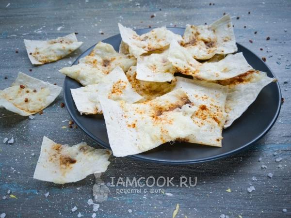 Чипсы из лаваша на сковороде — рецепт с фото пошагово