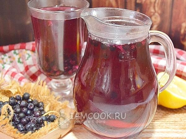 Компот из замороженной черники — рецепт с фото пошагово