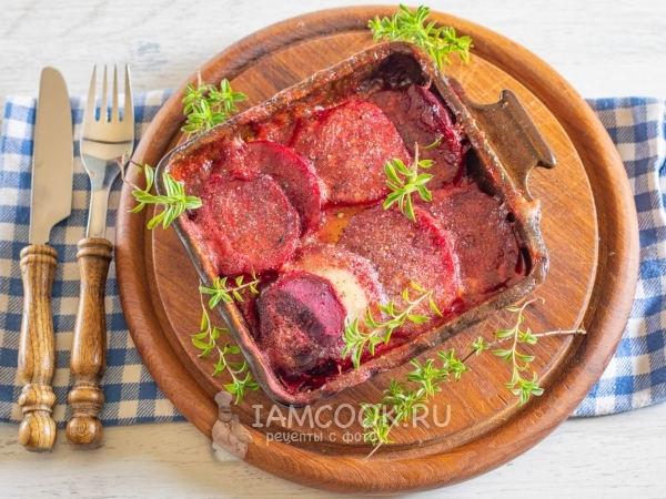 Запечённая свёкла с сыром — рецепт с фото пошагово