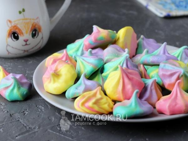 Цветное безе — рецепт с фото пошагово